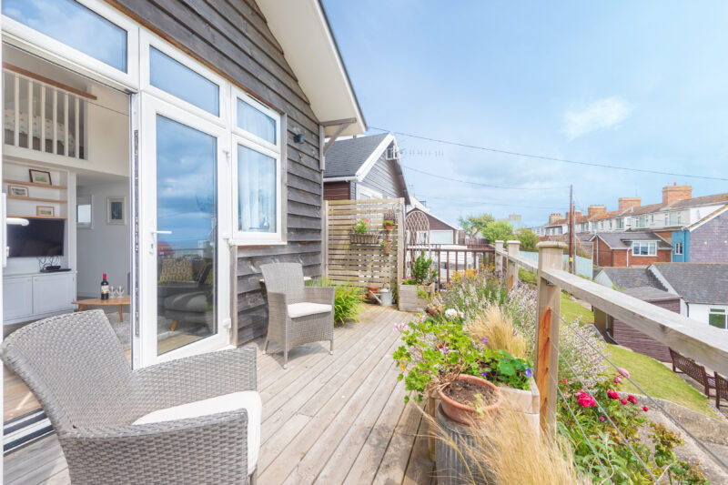 Wonderful deck area and sea views