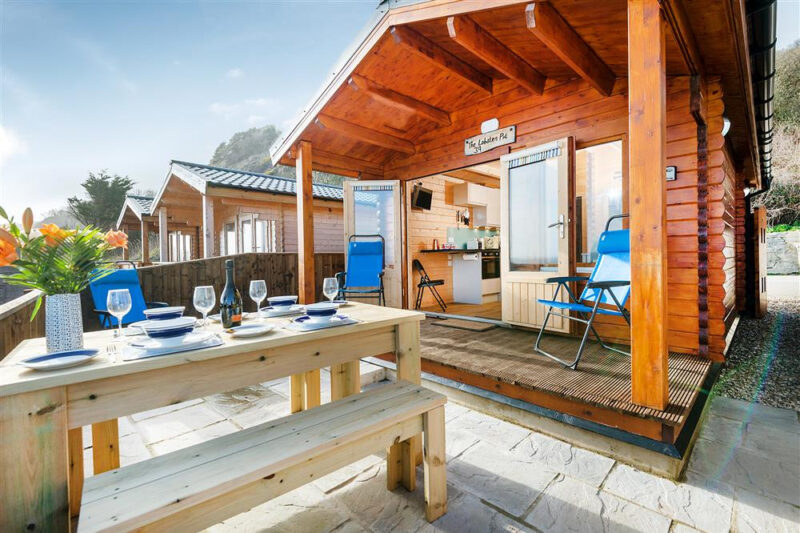 The Lobster Pot  is a cosy new chalet just above Monmouth Beach