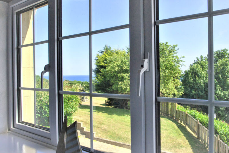 Sea views from the window