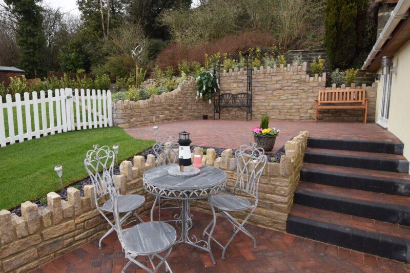 Pretty multilevel terrace