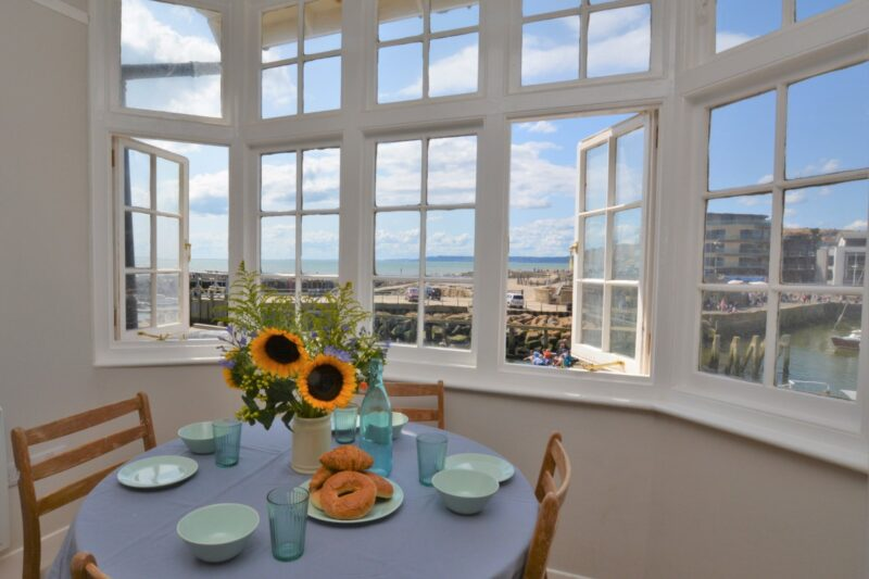 Admire the stunning coastal views from every window