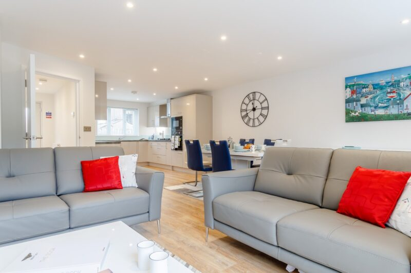Step into the charming, light and airy open plan living space