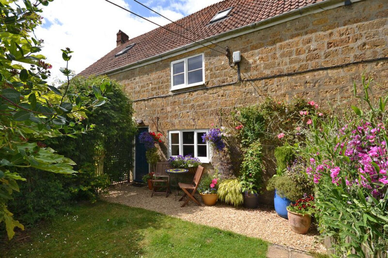 An attractive former farmworkers cottage with enclosed garden
