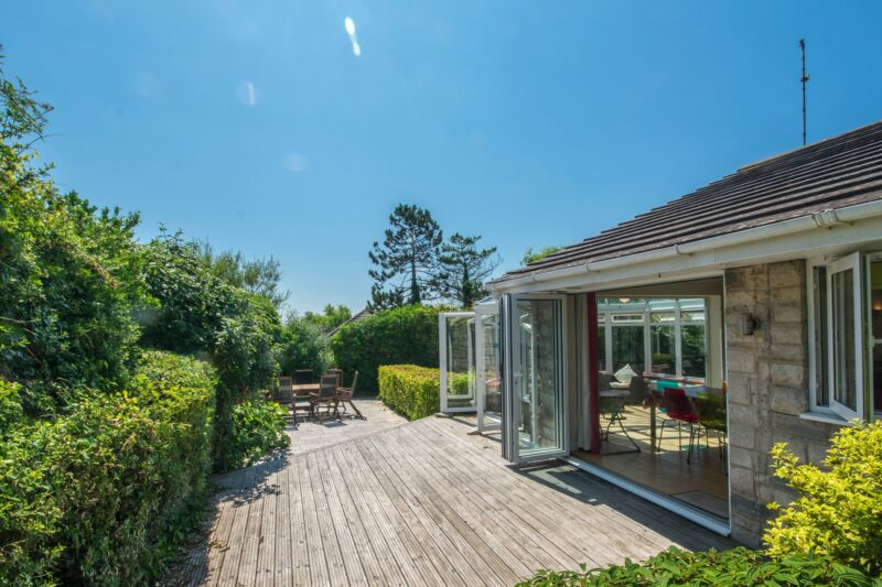 View of the decking towards the open plan living space