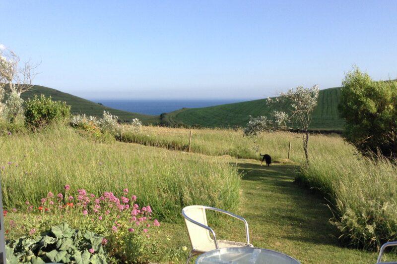 Fabulous views across open fields to the sea